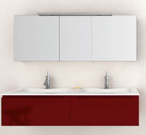 wall-mounted double washbasin cabinet IN16 oasis