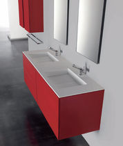 wall-mounted double washbasin cabinet 719  56 COSMIC
