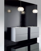 wall-mounted double washbasin cabinet 713  88  88  91 COSMIC
