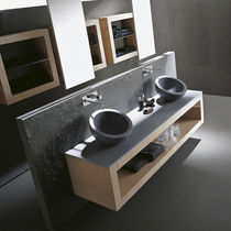 wall-mounted double washbasin cabinet XIL karol