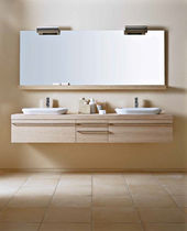 wall-mounted double washbasin cabinet LIGNUM karol
