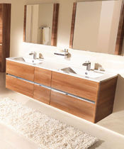 wall-mounted double washbasin cabinet DOLCE  AMBIANCE BAIN