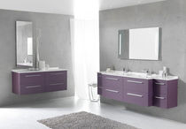 wall-mounted double washbasin cabinet CITY AMBIANCE BAIN