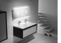 wall-mounted double washbasin cabinet VERANDA ROCA
