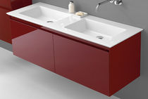 wall-mounted double washbasin cabinet ACCURA Burg