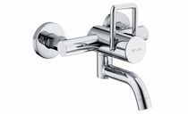 wall-mounted single handle mixer tap for washbasin ARWA-TWIN SIMILOR KUGLER