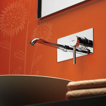 wall-mounted single handle mixer tap for washbasin ELIO Webert