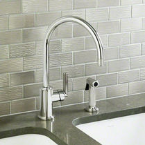 wall-mounted single handle mixer tap for kitchen with pull out spray VIR STIL: P23063-00 by LAURA KIRAR KALLISTA