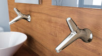 wall-mounted single handle mixer tap for washbasin ROD by MARCO ZITO Ponsi