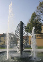 water dispenser for public spaces FEUILLE D'EAU by Françoise Persouyre GHM