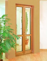 wood-aluminium casement french window Serie &quot;TONDA EKO&quot; Mod.Por.fine Almist