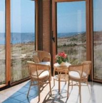 wood-aluminium casement patio door 50IWOOD ALUK GROUP