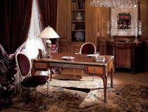 wood and leather classic style writing desk 0415 PROVASI