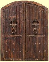 wood arched entrance door BURGUETTE Portón Clásico