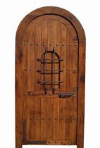 wood arched entrance door MOJACAR Portón Clásico