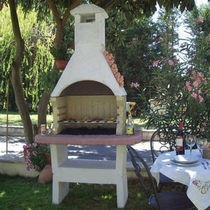 wood burning barbecue GRAN SASSO GIROLAMI CAMINETTI