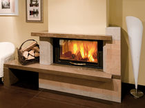 wood-burning closed hearth for corner fireplaces MONOBLOCCO 900 PIANO  Nordica