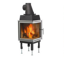 wood-burning closed hearth for corner fireplaces (cast iron) N-36V Nordpeis