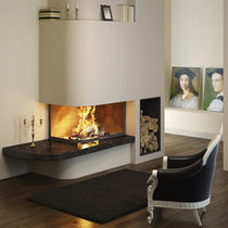 wood-burning closed hearth for fireplaces GALBE LATERAL TOTEM fire
