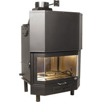 wood-burning closed hearth for boiler fireplaces PANORAMICO C.T.P. srl - CT Pasqualicchio