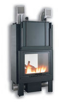 wood-burning closed hearth for double-sided fireplaces TROPICAL:TB 80 Amiata Caminetti