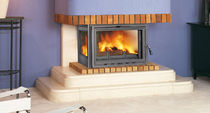 wood-burning closed hearth for fireplaces H-03 VISION LATERAL HERGOM