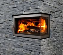 wood-burning corner fireplace insert ECCO 68  Flam