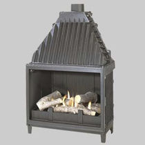 wood-burning double hearth for fireplaces (open / closed) SUPERCHAUFF 695 / 696  GODIN