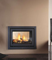 wood-burning double-sided fireplace insert UNILUX CUATRO TUNNEL Barbas