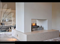 wood-burning open hearth for fireplaces SCALA BEIGE LimeStone Gallery