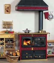wood burning range cooker / boiler THERMO JOHANNA Wanders