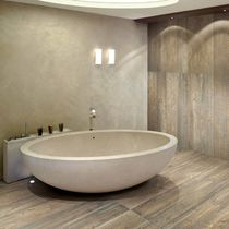 wood look porcelain stoneware tile (European Eco-label) LARIX : NATURAL CERAMICHE REFIN