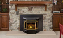 wood pellet fireplace insert CLASSIC BAY 1200 QUADRA-FIRE