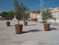 wood planter for public spaces ORLAM 900 AUBRILAM