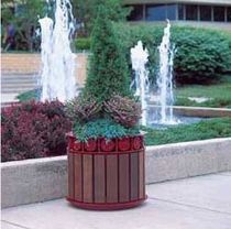 wood planter for public spaces 151 DuMor, Inc.