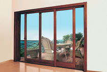 wood sliding french window  INTERIUM S.A.