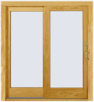 wood sliding french window A-SERIES Andersen
