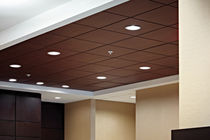 wooden acoustic ceiling tile PLANOSTILE™  CHICAGO METALLIC CORPORATION
