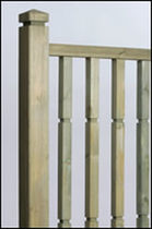 wooden balustrade Q-DECK PLUS&reg; Hoppings Softwood Products Plc 