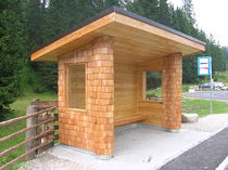 wooden bus shelter  Gasser Schindeln
