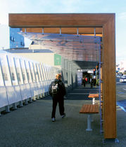 wooden bus shelter ACCOYA BUS SHELTERS  Accsys Technologies