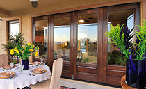 wooden casement patio door CLASSIC-CRAFT® MAHOGANY COLLECTION™  THERMA-TRU DOORS