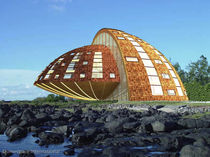 wooden contemporary ecological prefab building for housing development  DOMESPACE INTERNATIONAL