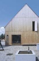wooden contemporary ecological prefab building for public building  Muller Holzbau GmbH