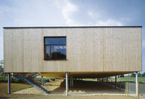 wooden contemporary ecological prefab building for school  Muller Holzbau GmbH 