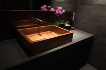 wooden counter top washbasin  WILLIAM GARVEY