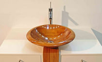 wooden counter top washbasin BATH'O IMAGE