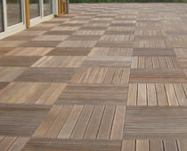 wooden deck tile for exterior floors  DLH