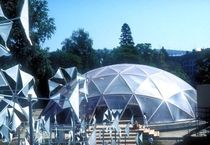 wooden dome tensile structure PHNOMENA Haring Engineering Ltd