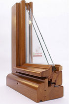 wooden double glazed casement window with thermal break ANTIK Menuiserie David